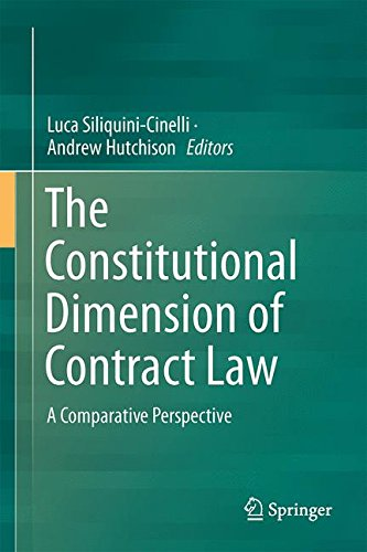The Constitutional Dimension of Contract Law: A Comparative Perspective