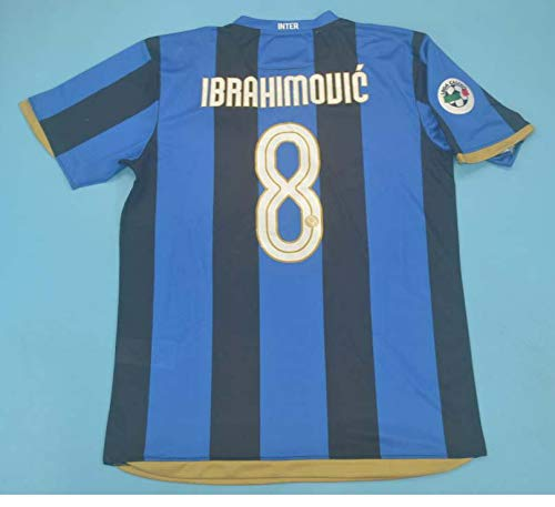 SU Zlatan Ibrahimovic#8 Retro Trikot 2008-2009 Full Patch Blue&Black Color (M)