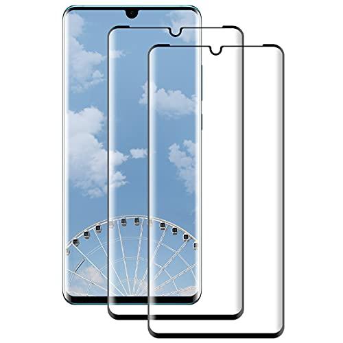 FayTun Protector de Pantalla para Huawei P30 Pro, Vidrio Templado, 3D Curvado Completa Cobertura, Alta Definicion, 9H Dureza, Antiarañazos, Antihuellas, Sin Burbujas, 2 Piezas