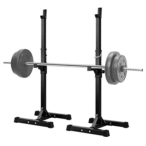 Lanmu Barbell Rack 2PCS Gym Family Fitness Adjustable Squat Rack Independent Weight Lifting Bench Press Stands