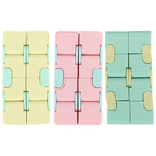 Atyhao Infinity Fidget Cube, 3-teiliges Mini Infinite Cube Mattes Zappel Fingerspielzeug für Stress und Angstlinderung und Kill Time