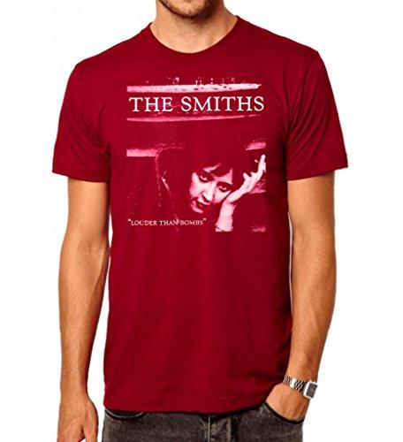 The Smiths Louder Than Bombs Herren T-Shirt. Rot/Medium