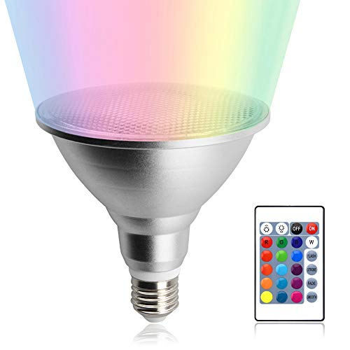 Luxvista 20W RGB E27 Par38 Impermeable Foco Lámpara Bombilla Proyector LED Spot...