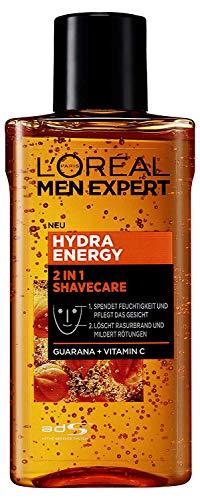 L\'Oréal Men Expert Hydra Energy 2-in-1 Shavecare Gesichtspflege mit Guarana, 125 ml