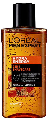 L'Oréal Men Expert Hydra Energy 2-in-1 Shavecare Gesichtspflege mit Guarana, 125 ml