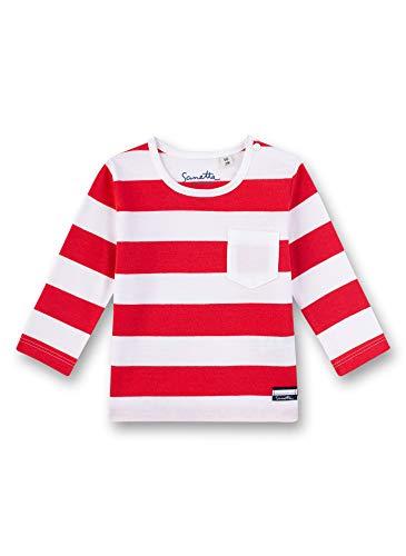 Sanetta Baby-Jungen Fiftyseven Langarmshirt, Rot (Hochrot 3121), 62 (Herstellergröße: 062)