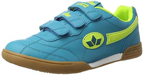 Lico Bernie V Multisport Indoor Schuhe Unisex Kinder, Petrol/ Lemon, 35 EU