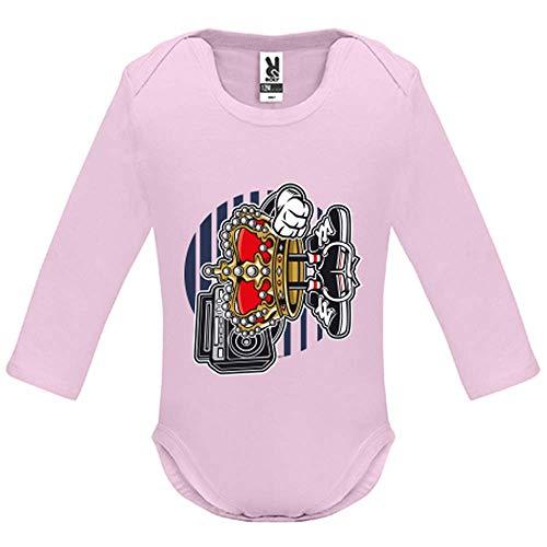 Body bébé - Manche Longue - Street King - Bébé Fille - Rose - 9MOIS