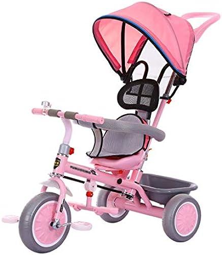Xing Hua Home Kinderfahrrad Kinderwanderer 1-6 Jahre Mit Markisenwagen Mit Ablagekorb 3 Wheel Bike (Farbe   Rosa, Größe   47  86  92cm)