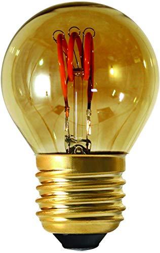 Girard Sudron 716634-LED Golfball C45 - Bombilla LED de filamento de 45 mm, E27 (ES Edison casquillo de rosca), ahumado, blanco cálido, 90 lúmenes, regulable, 3 W