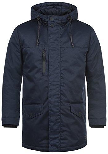 Redefined Rebel Mule Herren Winter Jacke Parka Mantel Lange Winterjacke gefüttert mit Kapuze, Größe:L, Farbe:Navy
