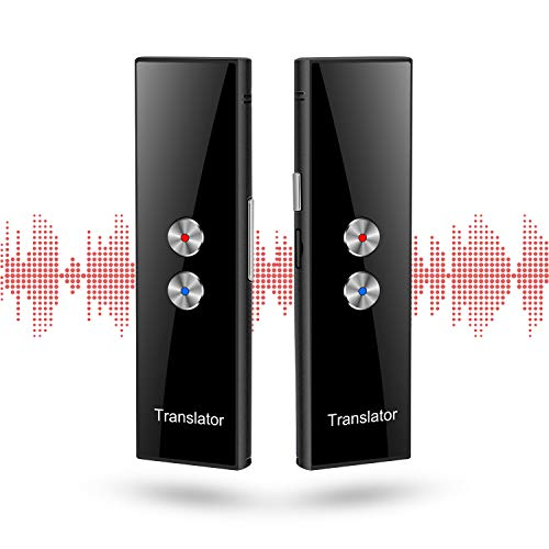 Smart Voice Translator Language Translator Device Support 68 Languages ​​with Real-time Bidirectional Translation & Bluetooth MP3 Music (Black)