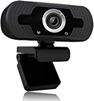 1080p webcam met microfoon, Full HD 1080p / 30fps videogesprekken, heldere stereo-audio, voor desktop-pc, MAC, laptop,...