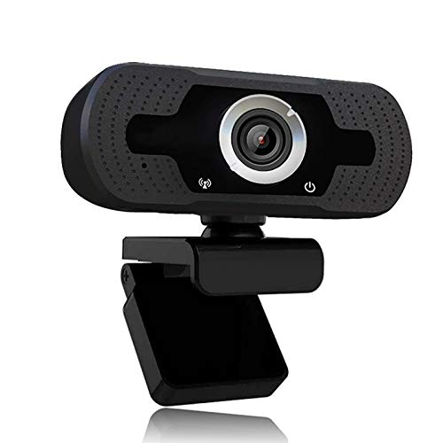 1080p Webcam mit Mikrofon, Full HD 1080p / 30fps Videoanrufe, klares Stereo-Audio, für Desktop-PC, MAC, Laptop, Streaming von WebcamPlug und Play Webcam für Youtube, Videoanruf, Studieren, Konferenz