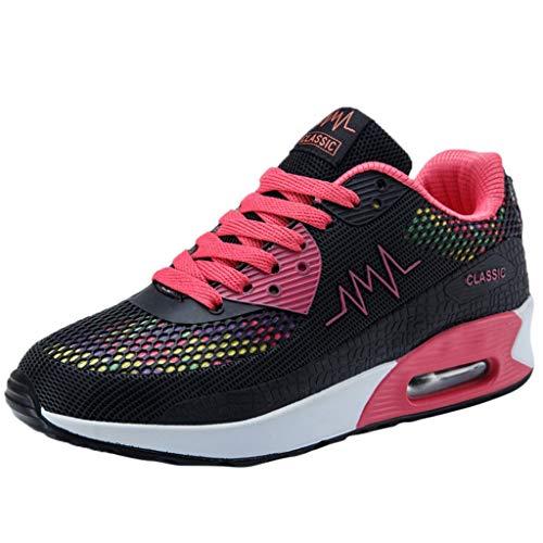Femmes Mode Respirant Confortable Athlétique Sport Chaussures Baskets Running Chaussures Sneakers BaZhaHei (40 EU, R-Noir)