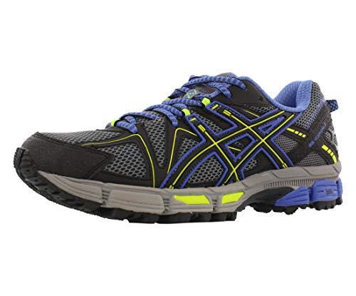 ASICS Women's Gel-Kahana 8 Trail Runner, Aluminum/Black/Flash Yellow, 10 M US