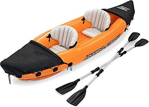 Aufblasbares Kajak Kanu Personen Zweier Kajak K2 Schlauchboot - Aufblasbares Pumpe,PVC Aufblasbare Dingy Boot Kajak für Wassersport Fischen oder Spielen auf Seeflüsse-Laden Sie 160 kg