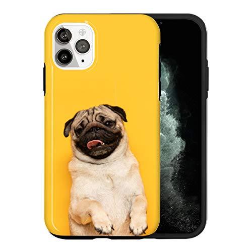 Sconosciuto iPhone 11 PRO Max Custodia, Adorable Pug AS011_5 Custodia per iPhone 11 PRO Max Protettiva, Gorgeous Phone Cover, Popular Trendy Fashionable [Guscio Resistente in Plastica Dura]