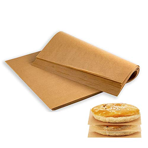 Parchment Paper Sheets, Precut 12x16 Inch (100 Sheets), Parchment Paper Sheets for Baking Cookies, Oven, Cooking, Grilling Rack, No Chemical Non-Stick Unbleached Precut Parchment Paper