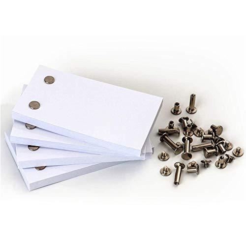 Baslinze 2 Löcher Refill Leeres Papier in Weiß, Leeres Flipbook-Papier mit Löchern 240 Blatt Flipbook-Animationspapier Seiten für Nachfüllbar Tagebuch Notizbuch Skizzenbuch Journal Einsätze