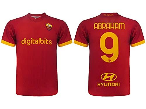 L.C. SPORT SRL Maglia Calcio Tammy Abraham Stagione 2021 2022. Maglia Giallo Rossa Numero 9. Prima Maglia. Replica Ufficiale autorizzata. Taglie da Adulto e da Bambino. (12 Anni)