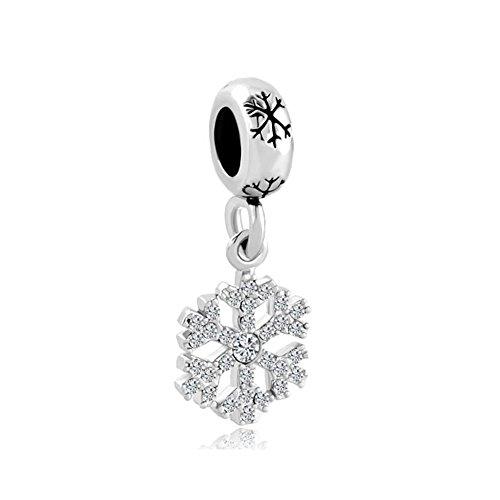 SexyMandala - Abalorio de copo de nieve, diseño de flor de nieve, cristal sintético, para pulseras