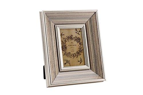 Qualité antique/vintage Or, Argent, Bronze fine à rayures Cadre photo – 15,2 x 10,2 cm