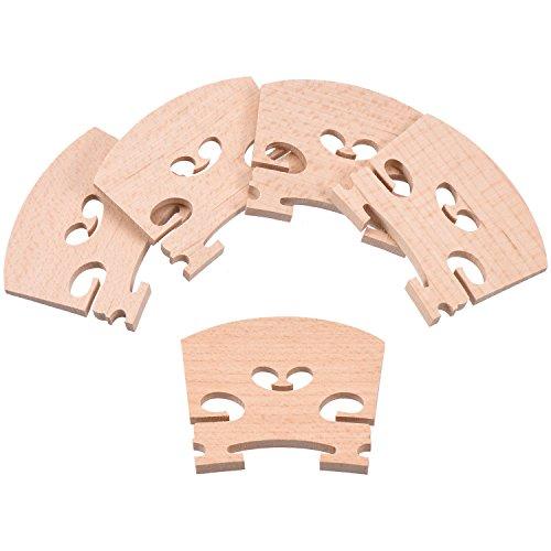 Canomo 5 Pieces Maple 4/4 Full Size Violin Bridge