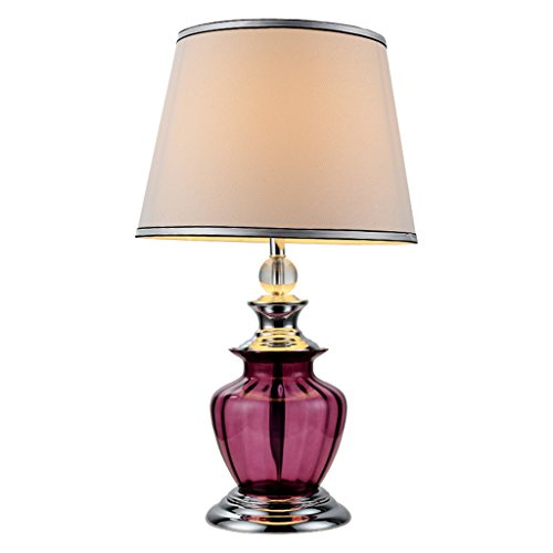 CJH Européenne Creative Lampe de Table en Verre Chaude Moderne Simple Mode Chambre Jardin Vent De Mariage Rouge Chevet Lampe De Chevet