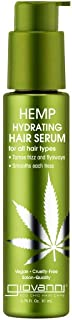 GIOVANNI Hemp Hydrating Hair Serum, 2.75 Fl Oz. Hemp Seed Oil, Aloe Vera, Frankincense, Anti-Frizz Formula Helps Stimulate...