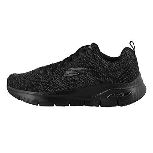 Skechers Men's Arch Fit Paradyme Low Top Sneaker Shoes Black 6.5