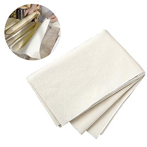 Danolt Tissu de Boulanger, Toile de levée Professionnelle Baguettes (29'x18) - 100% Lin Naturel en Coton, Non traité.