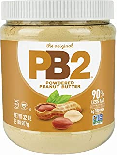 PB2 Original Powdered Peanut Butter - [2 Lb/32oz Jar] 6g of Protein, 90% Less Fat, Certified Gluten Free, Only 60 Calories...