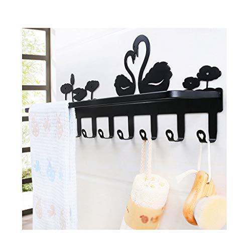 LDGGJ Vrijstaande badkamer handdoek rail rek stand rails Handdoek Rack,Zwart en wit zwaan handdoek bar 6666