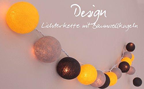 CREATIVECOTTON LED Lichterkette mit Cotton Balls inkl. Timer und Dimmer (Manhattan, 35 Kugeln)