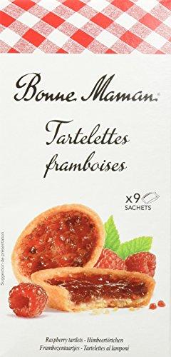 Bonne Maman Tartelettes framboises – 135 g – Mürbeteig-Törtchen gefüllt mit Himbeerkonfitüre