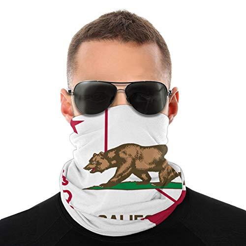 Unisex Stylish California Outline Flag Quick Dry Microfiber Headwear Outdoor Magic Bandana Neck Gaiter Head Wrap Headband Scarf Face Mask Ultra Soft Elastic Handscarf