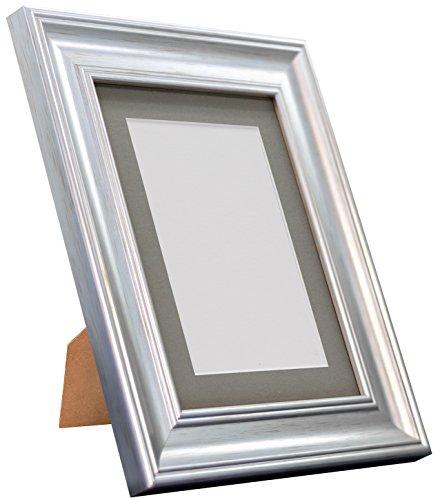 Frames By Post Scandi Vintage fotolijst Donkergrijze houder 20 x 20 Image Size 16 x 16 Inches zilver