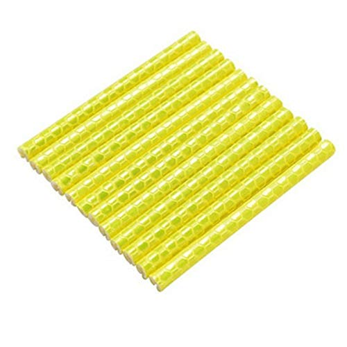FYstar Bicycle Equipment Reflective Accessories Mountain Spoke Pencils Colourful Wire Stripes Wheels Car Sticker Decorative Poles yellow