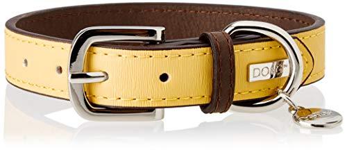Dog & Co DO & G Leather Collection Collare di Cane, Piccolo, Giallo