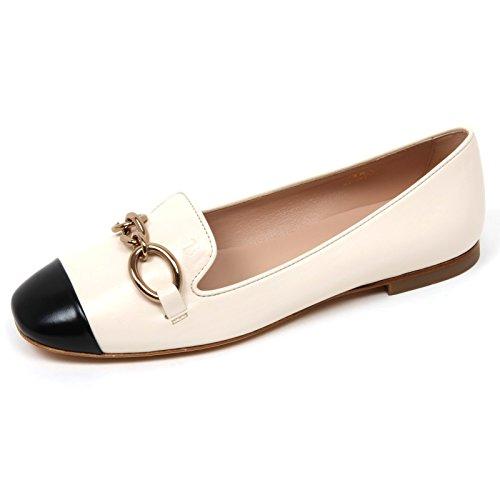 Tod's C9082 Ballerina Donna Scarpa Avorio/Nero Shoe Woman Ivory/Black [37.5]