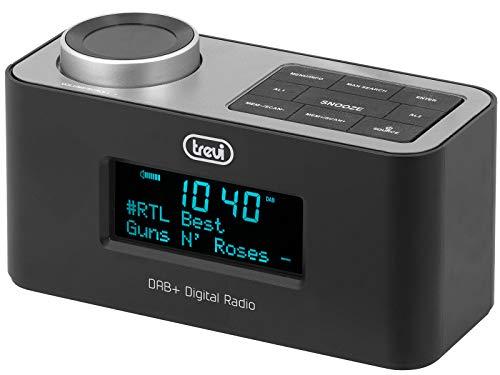 Trevi RC 80D6 DAB Radiosveglia Elettronica con Ricevitore Digitale DAB/DAB+ e FM con RDS, Grande Display LED, Funzione Snooze, Funzione Sleep, Funzione Powerbank, AUX-IN, USB Charge