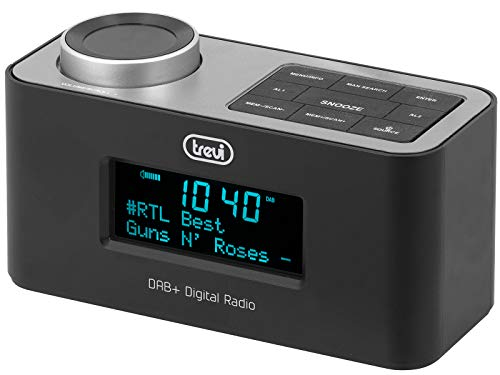 Trevi RC 80D6 DAB wekkerradio met digitale DAB/DAB+, groot LED-display, snooze-functie, slaapfunctie, powerbank