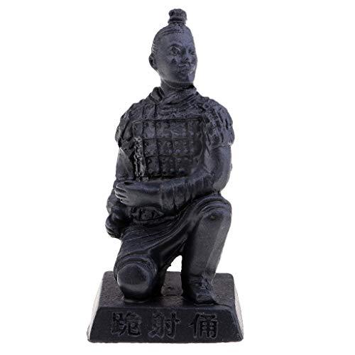 Antigüedad China Qin Terracota Guerreros Caballo Figurilla Ilustraciones Ornamento