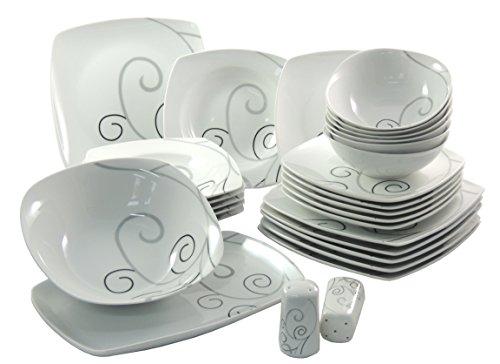 Topkapi Malia-Ann TK-972 - Juego de vajilla de porcelana para 6 personas,...