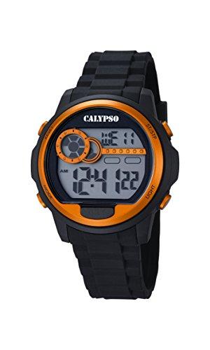 Calypso Reloj Modelo K5667/4 de la colección Digital FOR Man, Caja de 43 mm Correa de plástico Negro para Caballero