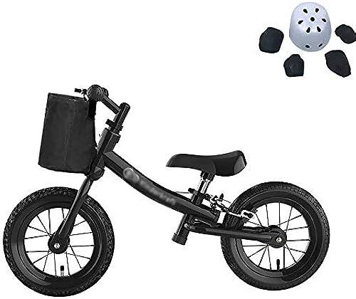 WHTBOX Balance fürrad Balance Bike, FüR 2-6 Jahre Alter Junge Und mädchen,12 Zoll Laufrad Mit Verstellbarem Sitz Und Griff,schwarz