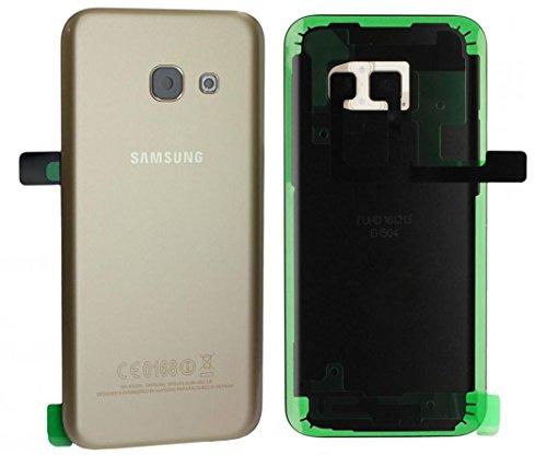 Original Samsung Galaxy A3 2017 SM A320F A320 Akkudeckel Backcover Akku Deckel Akkufachdeckel Batterieabdeckung Rückseite Cover Kameralinse + Klebestreifen Gold GH82-13636B