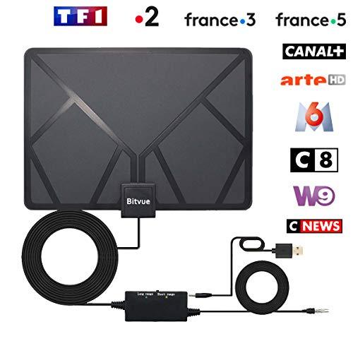 Baskets 2018 prix de liquidation emballage fort [95KM] Antenne TNT HD Antenne TV Intérieur Puissante, 95KM amplificateur de  Signal à Longue portée, Soutien 1080P 4K, câble coaxial 5 mètres