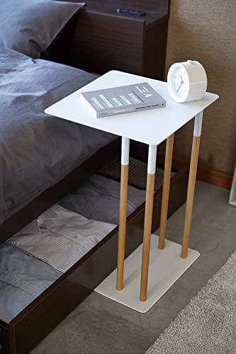 山崎実業(Yamazaki)サイドテーブルホワイト約35X35X55cmPLAIN4803